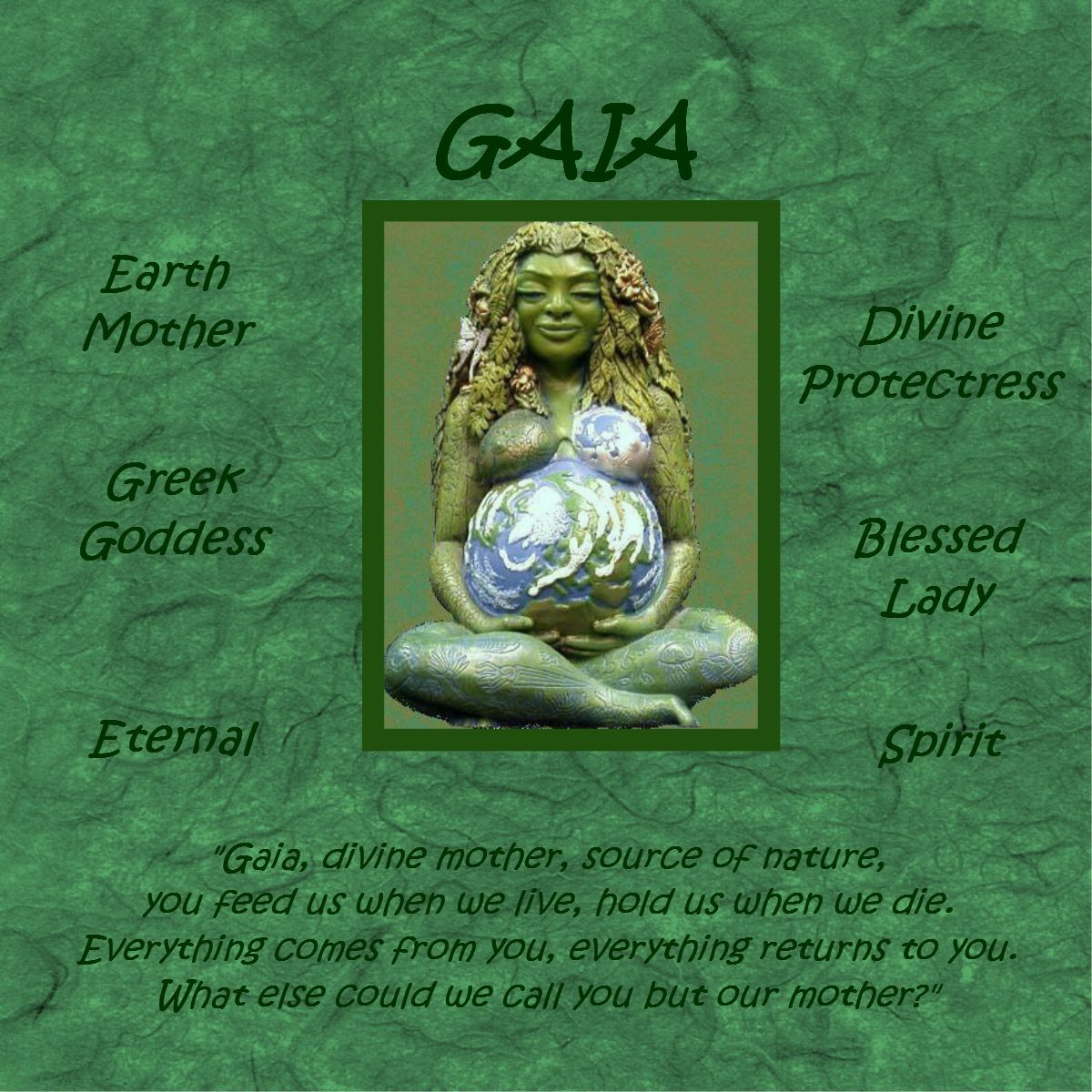 d03ee91a9803d The Millennial Gaia - The Visionary Mother Earth Goddess Sculpture ...